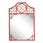"""Chippendale Mirror  Unpainted - """"Select Your Color""""  Frame: Rattan"""