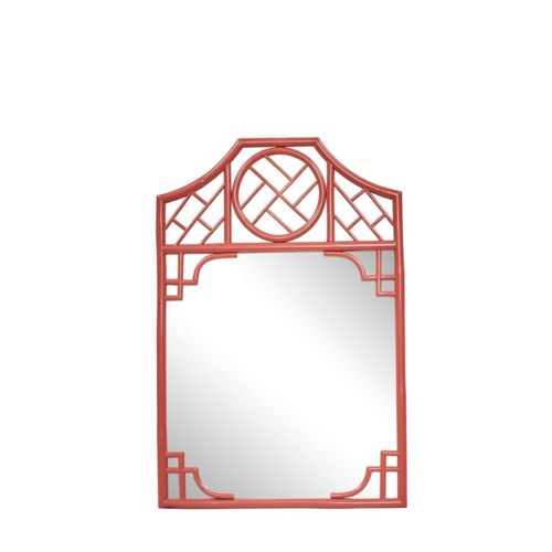 "Chippendale Mirror  Unpainted - ""Select Your Color""  Frame: Rattan"