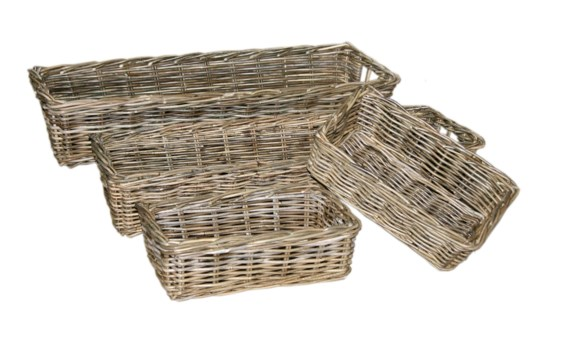 Buy1Get1 FREE! -Java  Deep Tray BasketsColor - Kubu GraySet of 4 (Sold in Sets Only)Item to be