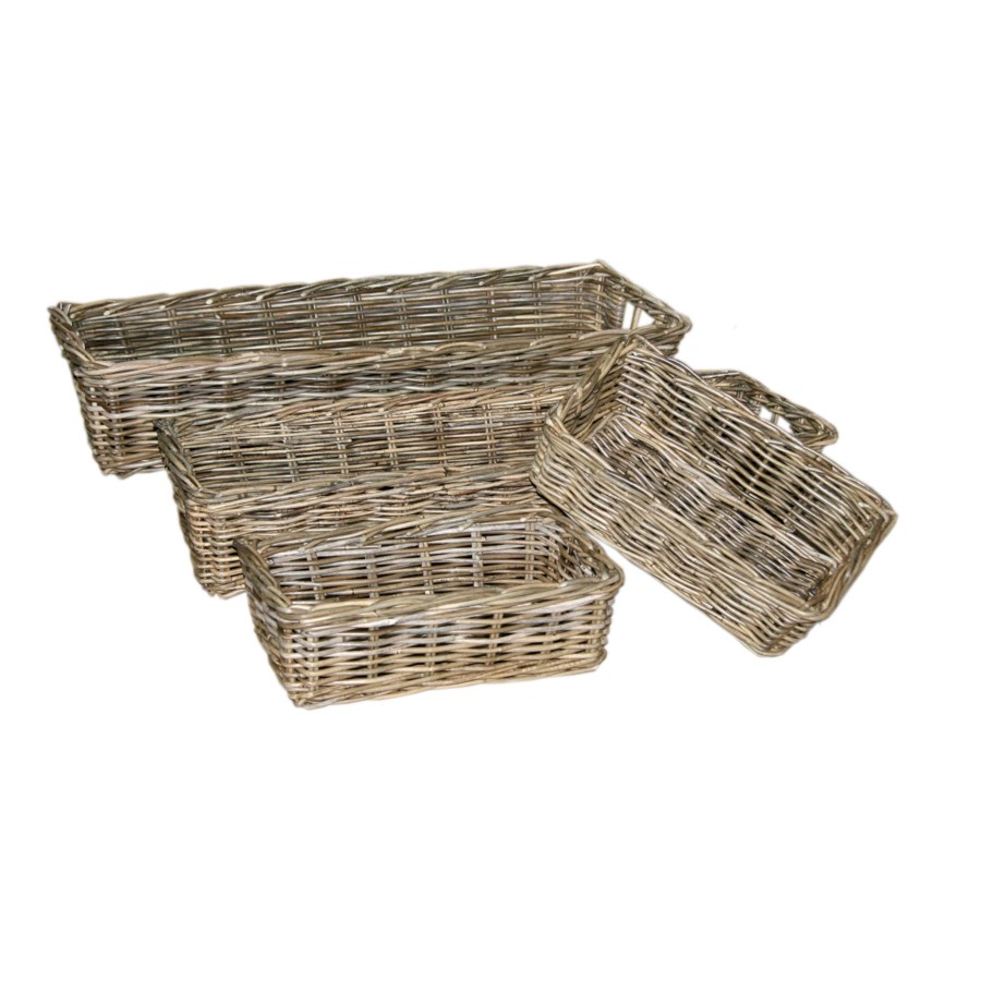 Buy1Get1 FREE! -Java  Deep Tray BasketsColor - Kubu GraySet of 4 (Sold in Sets Only)THIS ITEM H