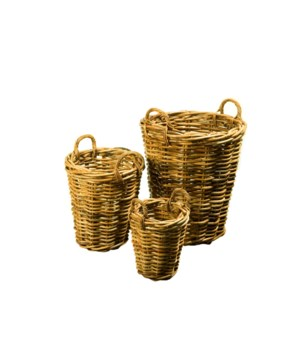 Buy1Get1 FREE! - Bali Tall Basket Set Color - Natural Set of 3 (Sold as a Set Only) Item to be