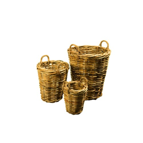 Buy1Get1 FREE! -Bali Tall Basket SetColor - NaturalSet of 3 (Sold as a Set Only)Item to be disc