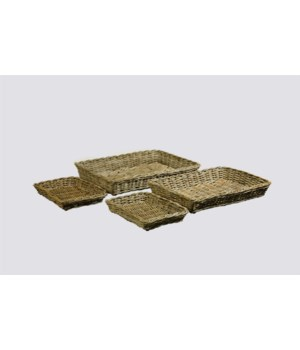 Buy1Get1 FREE! - Java Trays Color - Kubu Gray Set of 4 (Sold as a Set Only) Item to be disconti