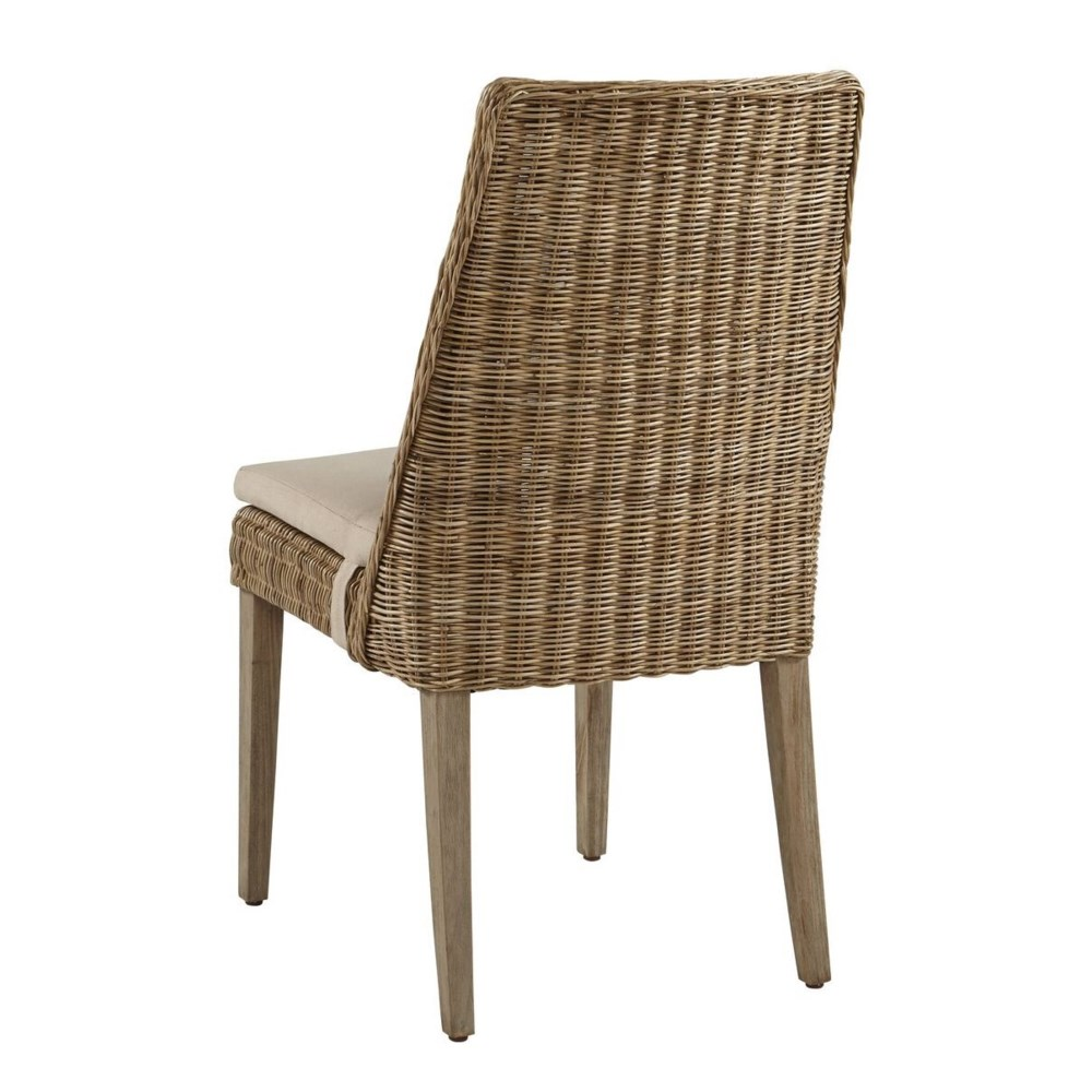"""Oliver Dining Chair """"Sold in Pairs only""""Frame Color - Stone Cushion Color - Linen (with Velcro S"""