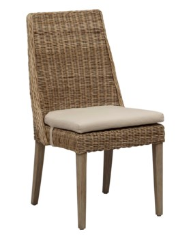Oliver Dining ChairFrame Color - StoneCushion Color - Linen(with Velcro Strap)