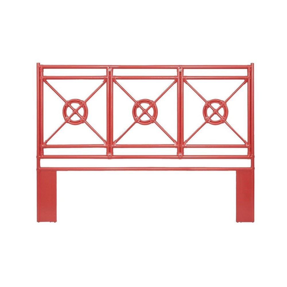 """50% OFF UNPAINTED FRAME ONLY!  Jardin King Headboard  Unpainted - """"Select Your Color""""  Rattan Fra"""