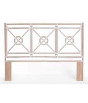 "50% OFF UNPAINTED FRAME ONLY!  Jardin King Headboard  Unpainted - ""Select Your Color""  Rattan Fra"