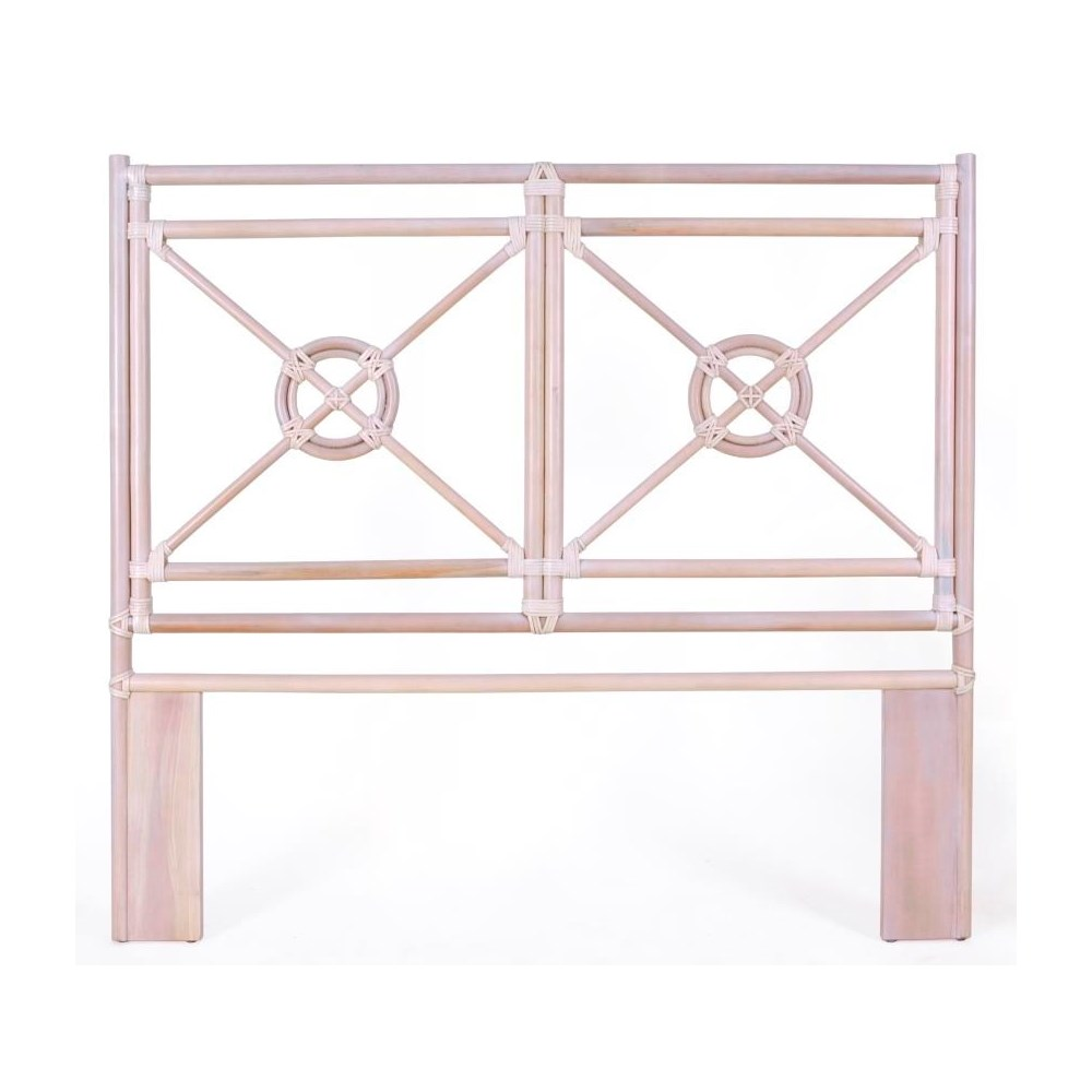 """50% OFF UNPAINTED FRAME ONLY!  Jardin Queen Headboard  Unpainted - """"Select Your Color""""  Rattan Fr"""