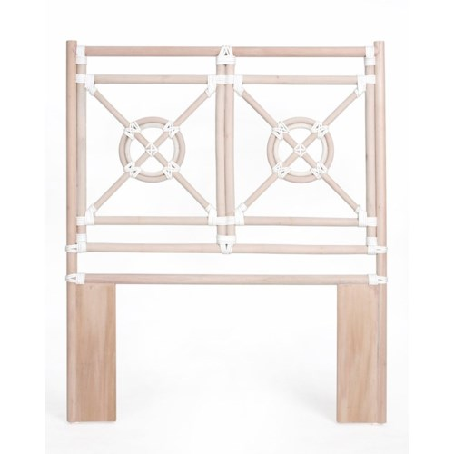 "50% OFF UNPAINTED FRAME ONLY!  Jardin Twin Headboard  Unpainted - ""Select Your Color""  Rattan Fra"