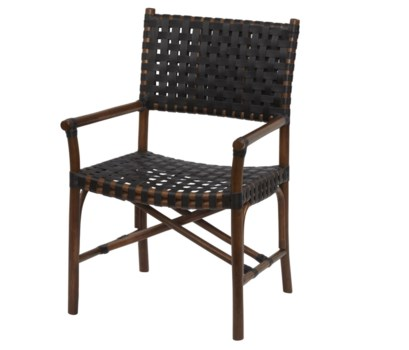 Malibu Arm ChairFrame Color - CocoaLeather Color - Black