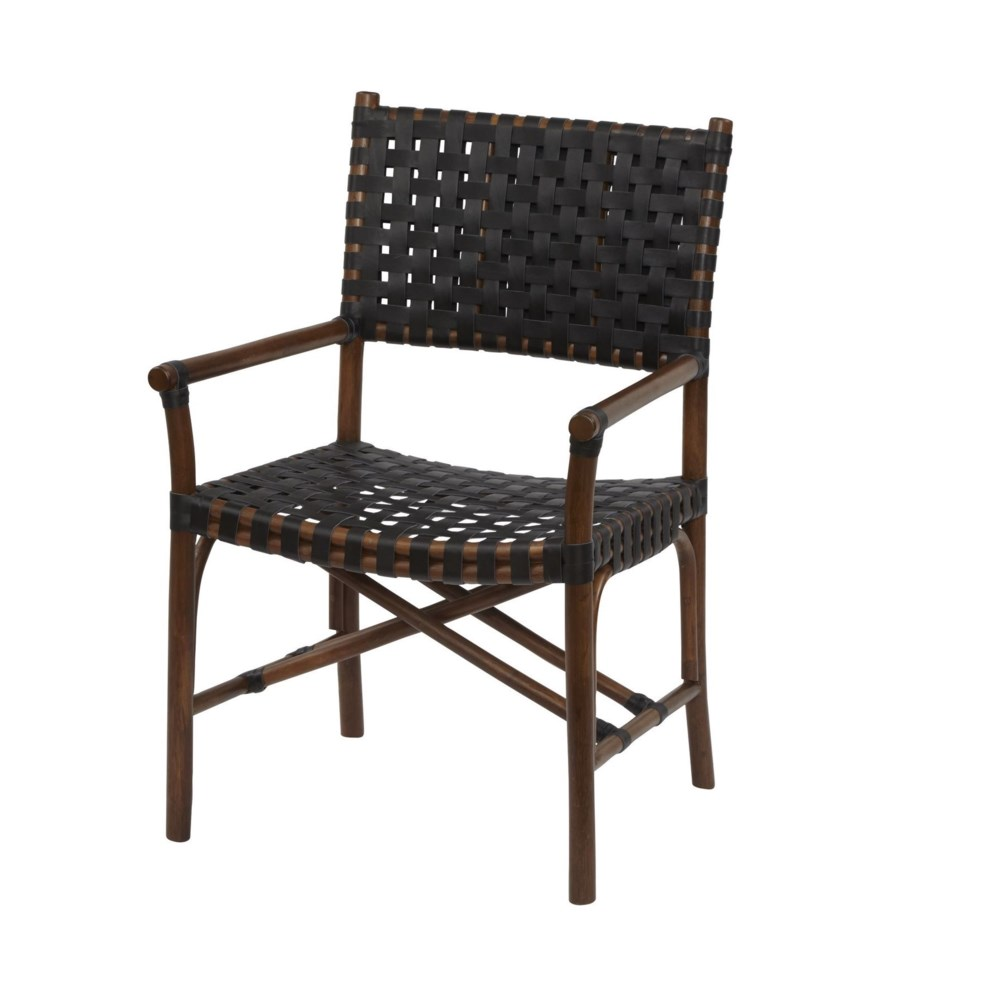 Malibu Arm Chair Frame Color - Cocoa Leather Color - Black CLOSE-OUT - 50% OFF!SOLD AS-IS  ~  A