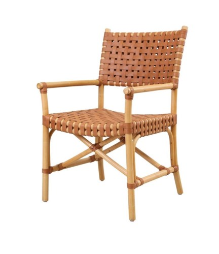 Malibu Arm ChairFrame Color - Natural Leather Color Brown