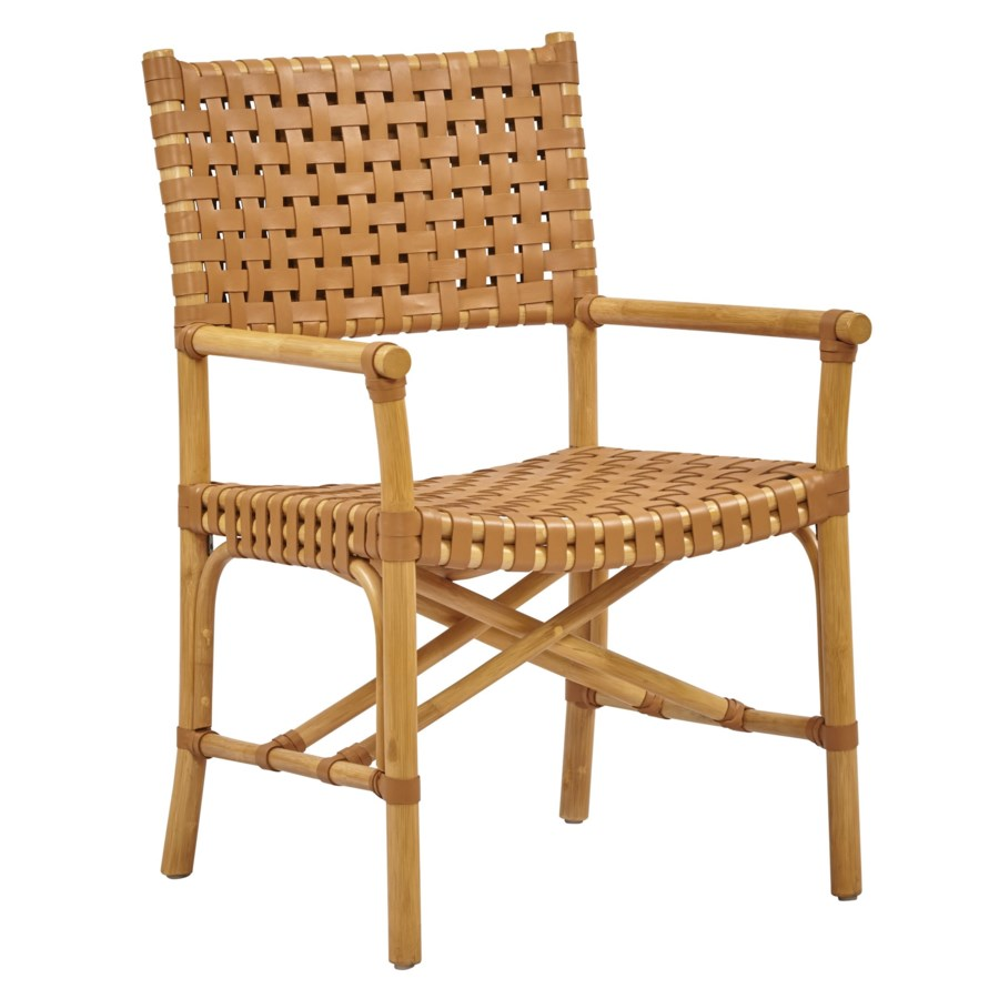Buy1Get1 FREE! -Malibu Arm ChairColor - Natural/SaddleItem to be discontinued