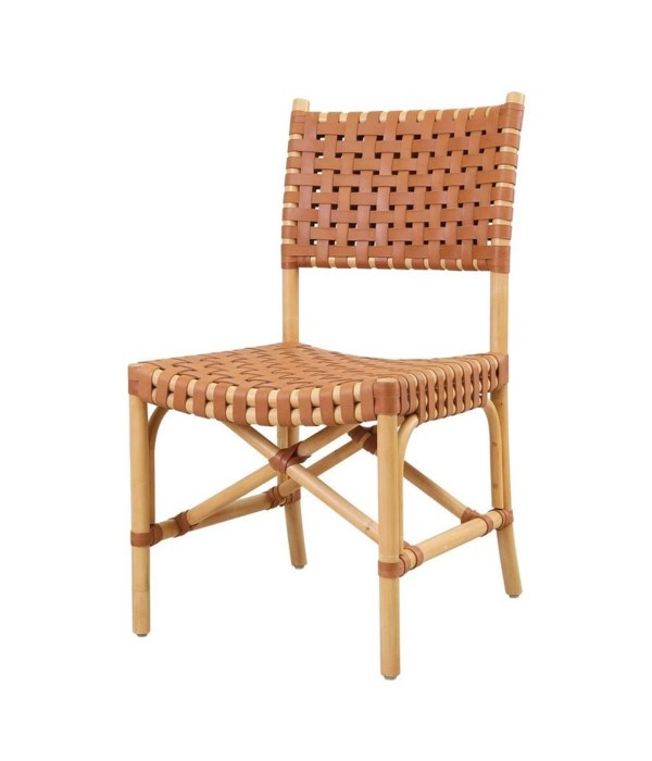 Malibu Side Chair Frame Color - Natural Leather Color - Brown CLOSE-OUT - 50% OFF!SOLD AS-IS  ~