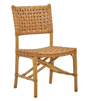 CLOSE-OUT - Buy1Get1 FREE! - Malibu Side Chair Color - Natural/Saddle Item to be discontinued