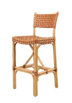 Malibu Bar ChairFrame Color - Natural Leather Color - Brown