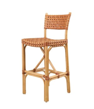 CLOSE-OUT - Buy1Get1 Free!Malibu Bar ChairFrame Color - Natural Leather Color - BrownAll Close-