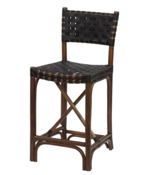 Malibu Counter ChairFrame Color - Cocoa Leather Color - Black