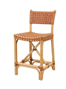 Malibu Counter ChairFrame Color - NaturalLeather Color - Brown