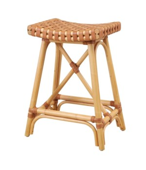 CLOSE-OUT  - 25% OFF Malibu Counter Stool Color - Natural/Saddle  Item to be discontinued