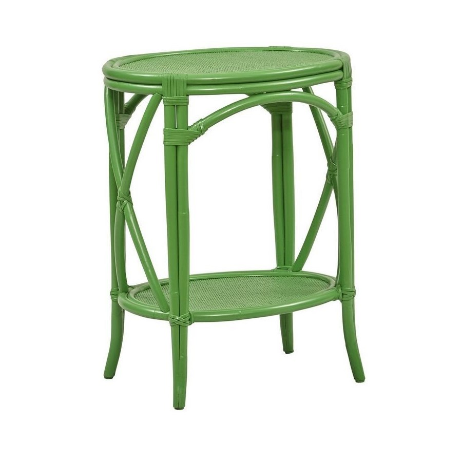 "50% OFF UNPAINTED FRAME ONLY!  Morgan Accent Table  Unpainted - ""Select Your Color"" Rattan Frame"