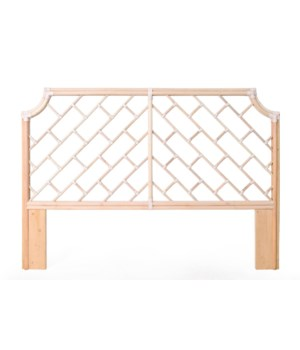 CLOSE-OUT - 50% Off Unpainted Frame ONLY!Palm Beach Chippendale HeadboardKing Frame to be Painted