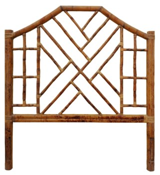Chinese Chippendale Headboard QueenAntique Tortoise