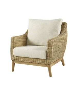 Metropolitan Club Chair Frame Color - Natural Weave Color - Natural  Cushion Color - Cream