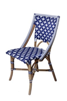 Bistro Chair     Color - Navy/White(Star Pattern)Sold in Pairs Only