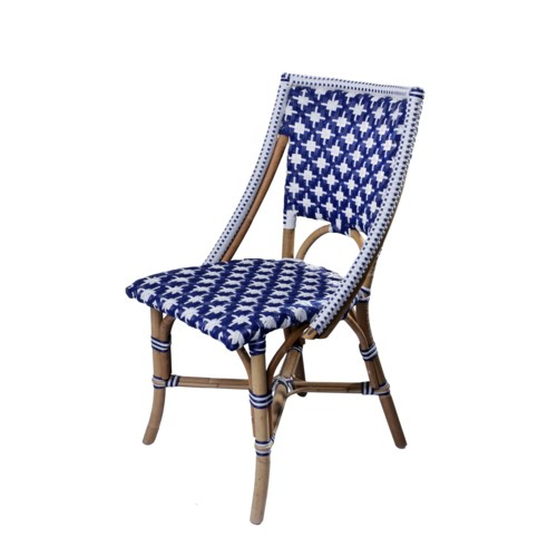 Bistro Chair      Color - Navy/White (Star Pattern) Sold in Pairs Only