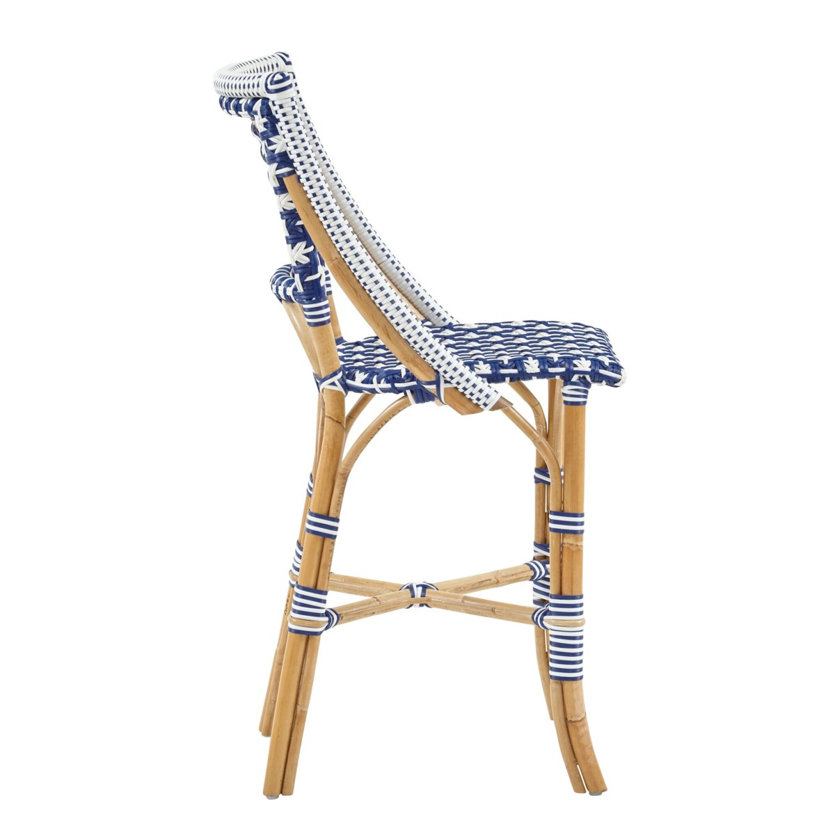 Bistro Counter Chair Color - Navy/White (Star Pattern)
