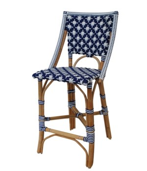 Bistro Counter ChairColor - Navy/White(Star Pattern)