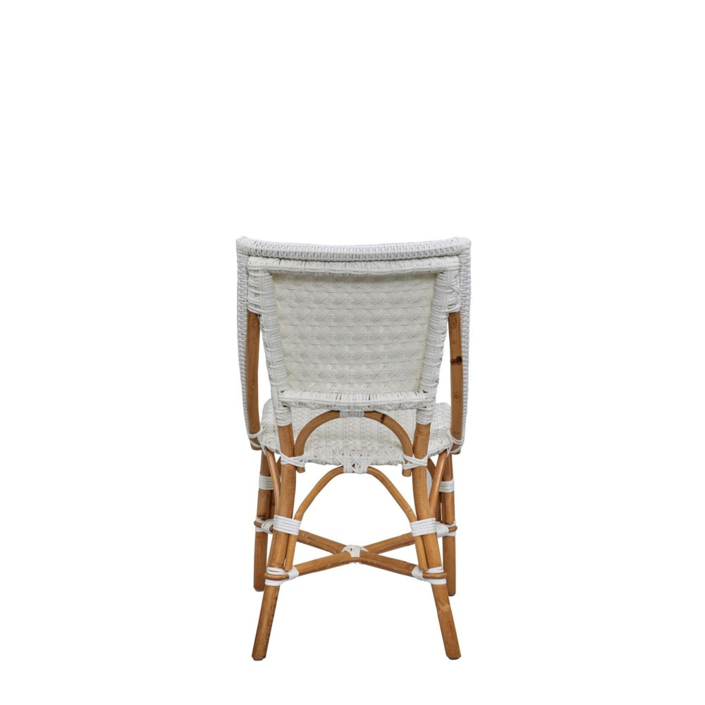 Bistro Chair  Color -  White (Star Pattern)  Sold in Pairs Only