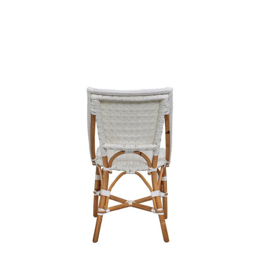 Bistro Chair   Color:  White Star Pattern   Sold in Pairs Only