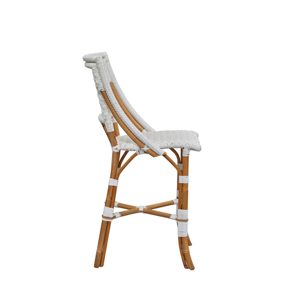 Bistro Counter Chair  Color - White (Star Pattern)