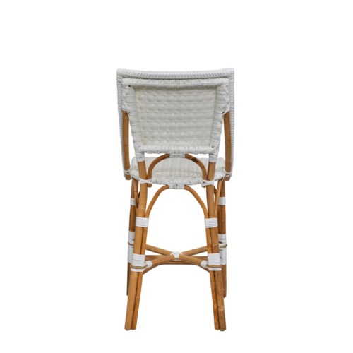 Bistro Counter Chair  Color - White Star Pattern