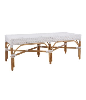 "NEW!!  Bistro Bench 54""  Color - White (Star Pattern)"