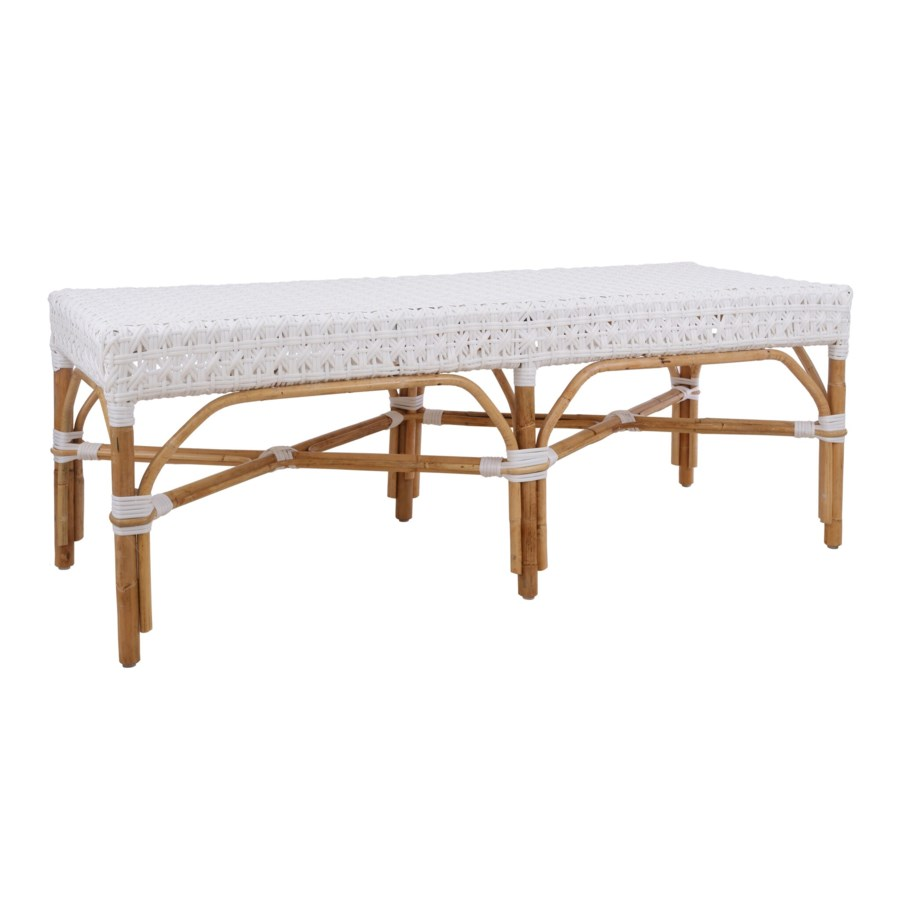 """Bistro Bench 54""""  Color - White (Star Pattern)"""