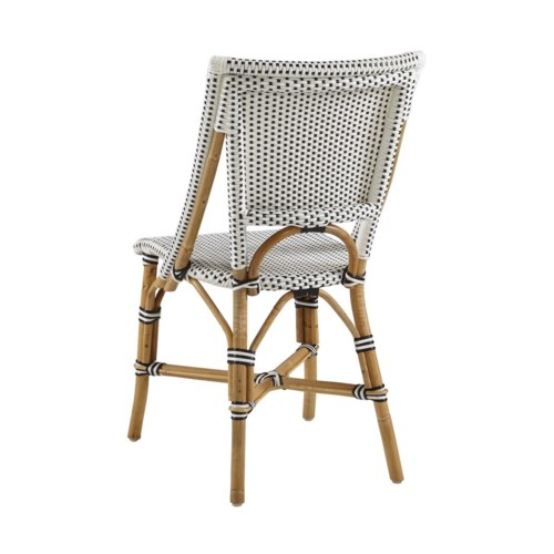 Bistro Chair Color - White & Black Sold in Pairs ONLY (Price Shown is Per Item)
