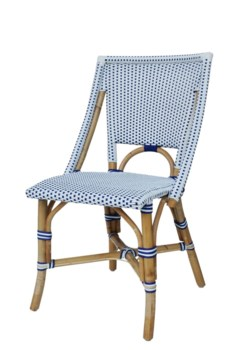 Bistro ChairColor - White & NavySold in Pairs ONLY