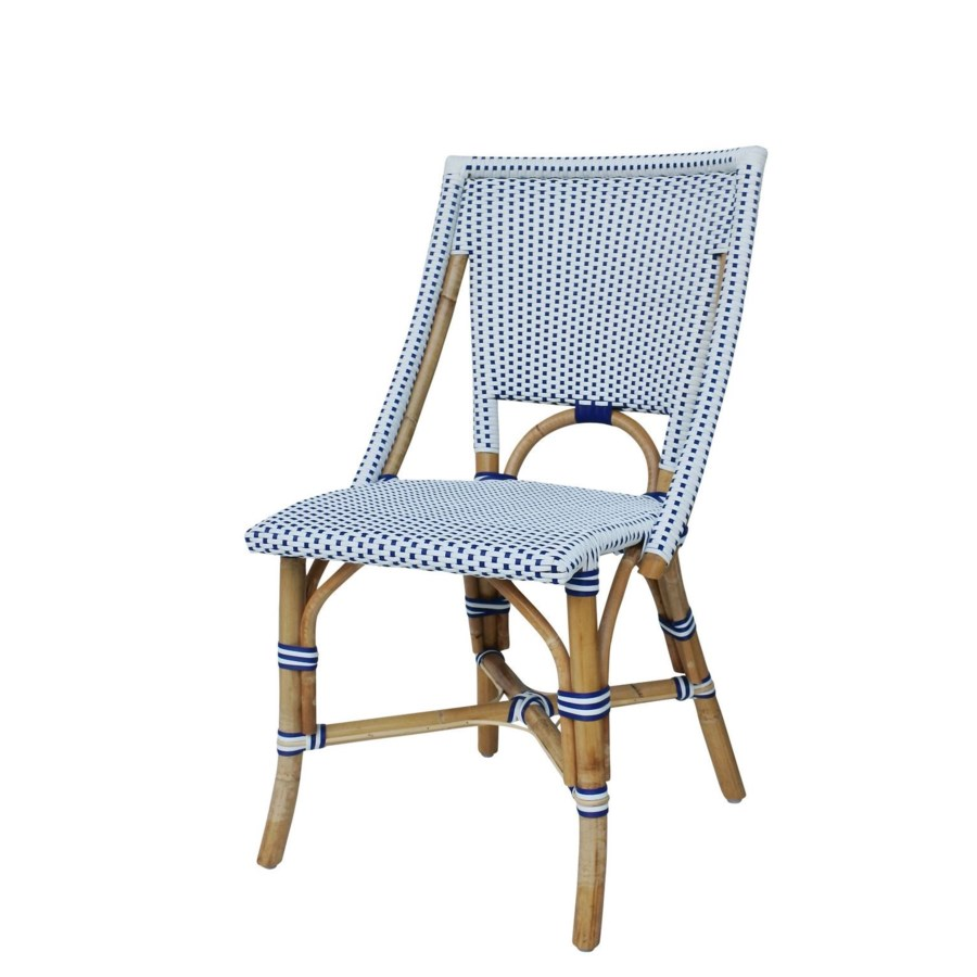 Bistro Chair  Color - White/Navy  Sold in Pairs ONLY  (Price Shown is Per Item)