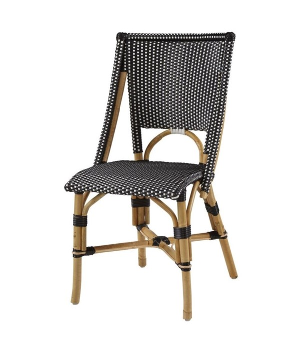 Bistro Chair  Color - Black/White  Sold in Pairs ONLY  (Price Shown is Per Item)