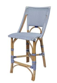 Bistro Counter ChairColor - White & Navy
