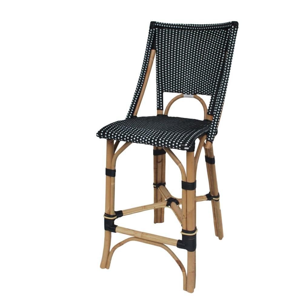 Bistro Counter Chair  Color - Black & White