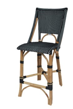 Bistro Counter ChairColor - Black & White