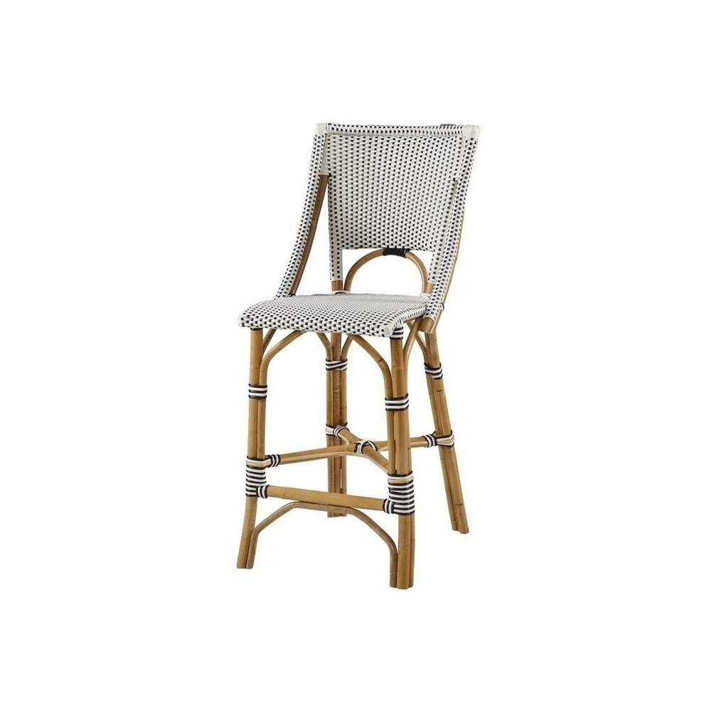 Bistro Counter Chair  Color -  White & Black