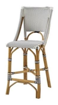 Bistro Counter ChairColor -  White & Black