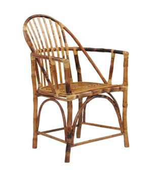 15% OFF -Windsor Rattan Arm ChairFrame Color - Tortoise Sold in Pairs ONLY(Price Shown is Per It