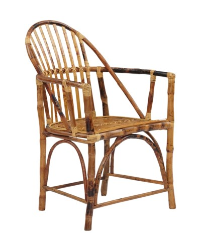 Windsor Rattan Arm ChairFrame Color - Tortoise Sold in Pairs ONLY