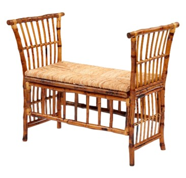 25% OFF -Cabana BenchWoven Rush SeatFrame Color - Tortoise Some Assembly RequiredItem to be Di